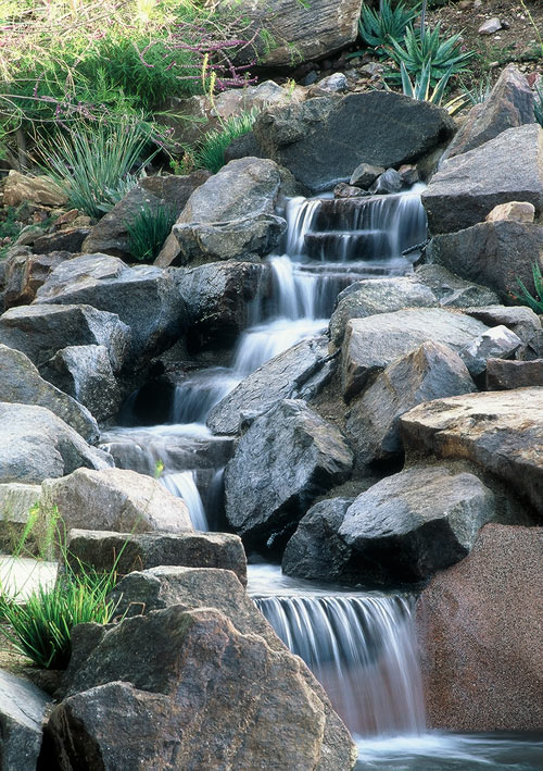 Real Rock Waterfall And Pool Features Rockworks Arizona