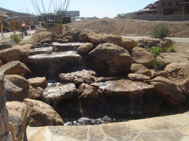Backyard Stone Ponds Rockworks Arizona